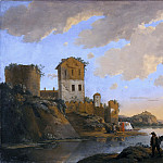 Italian River Landscape with Ruins