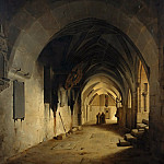 Carl Blechen - Cloister of the Cathedral of Halberstadt
