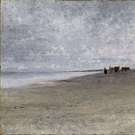 Oda Krohg - Hazy Weather by the Sea