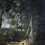 Landscape with High Trees near a Ravine [Attributed]