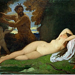 Jupiter and Antiope, Jean Auguste Dominique Ingres