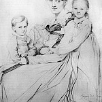 Madame_Johann_Gotthard_Reinhold_born_Sophie_Amalie_Dorothea_Wilhelmine_Ritter_and_her_two_sons, Jean Auguste Dominique Ingres