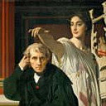 The composer Cherubini and the Muse of lyric poetry, Jean Auguste Dominique Ingres