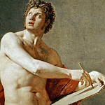 Jean Auguste Dominique Ingres - Academic Study of a Male Torso