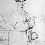 Ingres_Madame_Victor_Baltard_born_Adeline_Lequeux_and_her_daughter_Paule, Jean Auguste Dominique Ingres