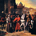 Entrance of Dauphin, future Charles V, to Paris, Jean Auguste Dominique Ingres