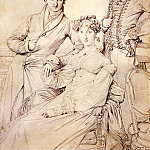 Joseph_Woodhead_and_his_wife_born_Harriet_Comber_and_her_Brother_Henry_George_Wandesford, Jean Auguste Dominique Ingres