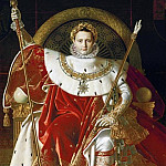 Jean Auguste Dominique Ingres - Napoleon on the Imperial Throne
