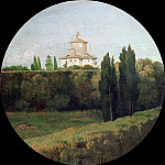 View of Belvedere of the Villa Borghese in Rome, Jean Auguste Dominique Ingres