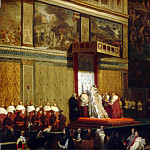 Pope Pius VII into Chapel, Jean Auguste Dominique Ingres