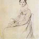 Ingres_Madame_Alexandre_Lethiere_born_Rosa_Meli_and_her_daughter_Letizia, Jean Auguste Dominique Ingres