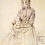 Madame_Frederic_Reiset_born_Augustine_Modeste_Hortense_Reiset_and_her_daughter_Therese, Jean Auguste Dominique Ingres