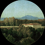 Jean Auguste Dominique Ingres - Roman landscape with acuaduct of the Villa Borghese