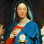 Virgin with the Host, Jean Auguste Dominique Ingres