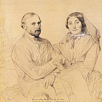 Jean Auguste Dominique Ingres - Ingres_Edmond_Ramel_and_his_wife_born_Irma_Donbernard