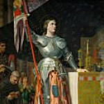 Jean Auguste Dominique Ingres - Joan of Arc at the coronation of King Charles VII in the cathedral at Reims, July 1429