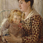 Johan Klopper - Mother and Child. The Wife and Daughter of the Artist Allan Österlind