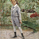 Christen Schiellerup Købke - Boy with a Wheelbarrow