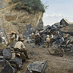 Anders Kallenberg - In the Quarry. Motif from Switzerland