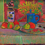 Odilon Redon - Still life with flowers and fruits