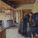 Kitchen, with the artist's Wife
