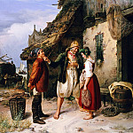 Theodore Gudin - Wedding Proposal on the Isle of Helgoland