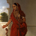 An Indian Dancing Girl with a Hookah