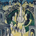 Juan Gris - The Belle-Alliance-Platz in Berlin