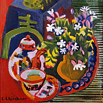 Ernst Ludwig Kirchner - Still Life with Chinese Porcelain