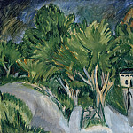 Wilhelm Trubner - House among trees