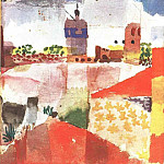Paul Klee - Hammamet with mosque, 1914, Collection Heinz Bergguen,