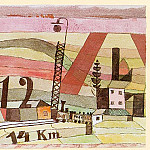 Paul Klee - Station L 112, watercolor and India ink on paper mounte