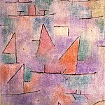 Paul Klee - Harbor with Sailboats, 1937, oil on canvas, Musee Natio