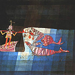 Paul Klee - BATTLE SCENE FROM THE COMIC OPERA THE SEAFARER   (1923