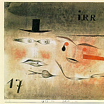 Paul Klee - 17 Astray, 1923, watercolor and India ink on paper moun