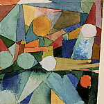 Paul Klee - Color shapes, 1914, Watercolor on paper, Barnes foundat