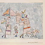 Paul Klee - Promenade in the Orient, 1932, Watercolor on paper, Bar