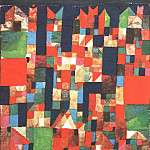 Paul Klee - City Picture with Red and Green Accents,1921, Coll. Dr
