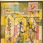 Paul Klee - Tale a la Hoffmann, 1921, watercolor on paper mounted o