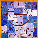 Paul Klee - Legend of the Nile,1937, Pastel on cotton cloth mounted