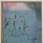 Paul Klee - Die Zwitschermaschine (Twittering machine), 1922, Water