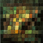 Paul Klee - Ancient sound, abstract on black, 1925, Kunstsammlung,