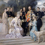 The silver wedding anniversary of the imperial family