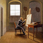 Georg Friedrich Kersting - KERSTING_Georg_Friedrich_Caspar_David_Friedrich_In_His_Studio_1811