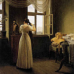 Georg Friedrich Kersting - KERSTING_Georg_Friedrich_At_The_Mirror