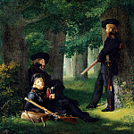 Johann Friedrich Overbeck - Theodor Korner, Karl Friesen and Christian Ferdinand Hartmann on Outpost Duty