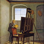 Carl Ludwig Kuhbeil - The Painter Caspar David Friedrich in His Studio