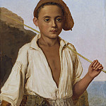Johan Klopper - Portrait of a fisherman boy from Capri