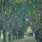Alley in the park of the palace Cummer, Gustav Klimt