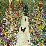 Garden Path with Hens, Gustav Klimt